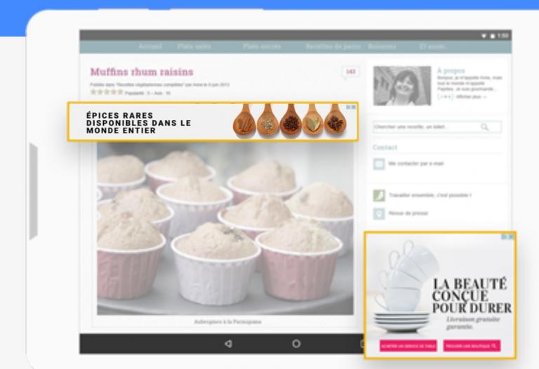 encarts publicitaires google adsense